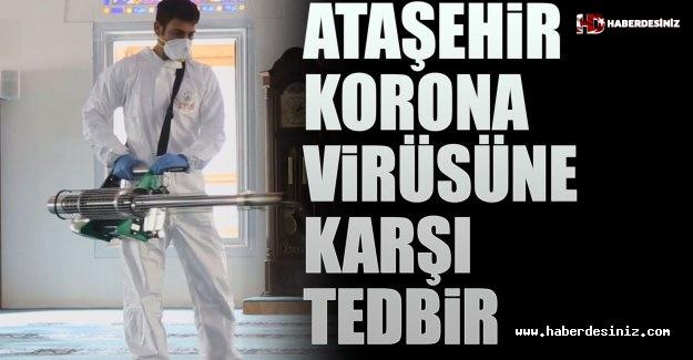 Ataşehir Belediyesi Okulları, İbadethaneleri Ve Parkları Mikrop Ve Virüslere Karşı İlaçlıyor