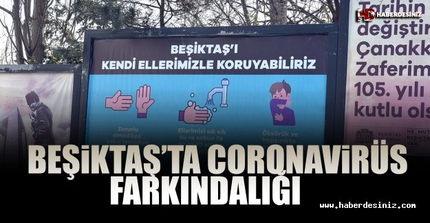 Beşiktaş'ta Coronavirüs Farkındalığı