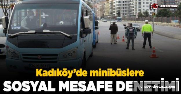 Kadıköy'de toplu ulaşım araçlarına sosyal mesafe denetimi