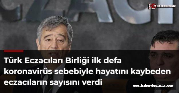 Türk Eczacıları Birliği ilk defa koronavirüs sebebiyle hayatını kaybeden eczacıların sayısını verdi