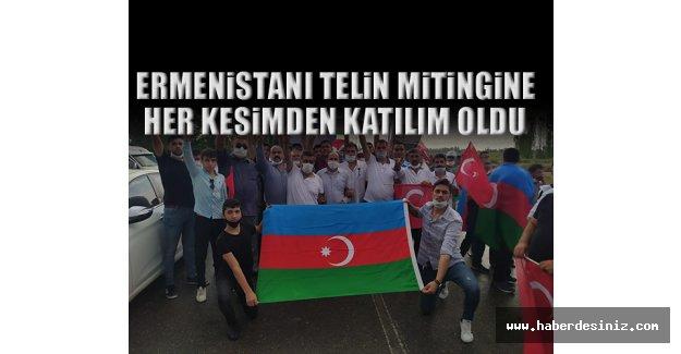 Ermenistanı Telin Mitingine Her Kesimden Katılım Oldu
