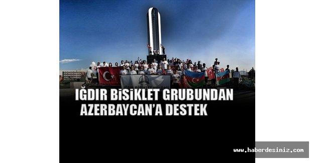 Iğdır Bisiklet Grubundan Azerbaycan'a Destek