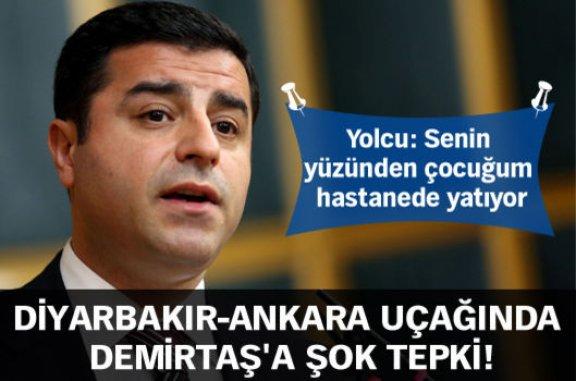 Diyarbakır-Ankara uçağında Selahattin Demirtaş'a şok tepki!