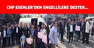 CHP ESENLER'DEN ENGELLİLERE DESTEK...