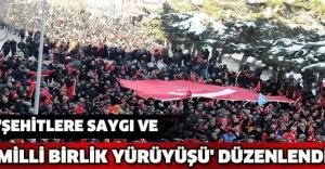 'Şehitlere Saygı ve Milli Birlik Yürüyüşü' düzenlendi