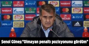 """Şenol Güneş:""""Olmayan penaltı pozisyonunu gördüm"""""""