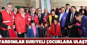 Yardımlar Suriyeli çocuklara ulaştı