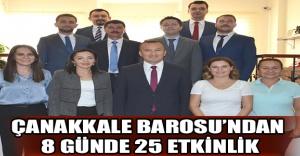 ÇANAKKALE BAROSU'NDAN 8 GÜNDE 25 ETKİNLİK