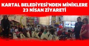 KARTAL BELEDİYESİ'NDEN MİNİKLERE 23 NİSAN ZİYARETİ..