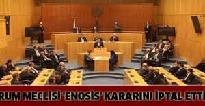 Rum Meclisi 'Enosis' kararını iptal etti