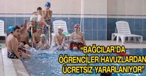 """""""Bağcılar'da öğrenciler havuzlardan ücretsiz yararlanıyor"""""""