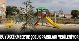 Büyükçekmece'de Çocuk Parkları Yenileniyor