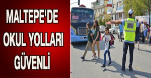 Maltepe'de okul yolları güvenli