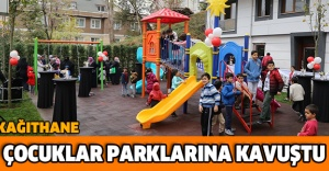 Çocuklar parklarına kavuştu