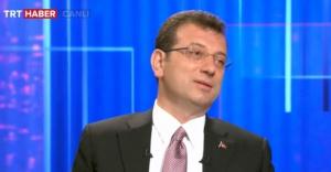 Ekrem İmamoğlu, TRT Haber'de soruları yanıtladı