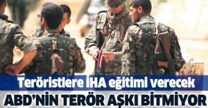 ABD'den Fırat'ın Doğusu'nda teröristlere İHA eğitimi.