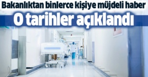 Sağlık Bakanlığı 17 bin 689 personelin alım tarihini duyurdu.