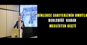 Binlerce Sarıyerlinin umutla beklediği karar meclisten geçti..!