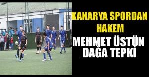 Kanaryaspor#039;dan Hakem Mehmet Üstündağa...