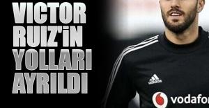 Beşiktaş ile İspanyol stoper Victor Ruiz'in yolları ayrıldı