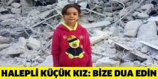 Halepli küçük kız: Bize dua edin