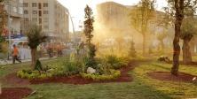15 Temmuz Meydanı Dikey Bahçeyle Yeşilleniyor