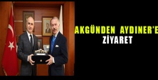 Hasan Akgün, Başkan Atila Aydıner'e nezaket ziyaretinde bulundu.