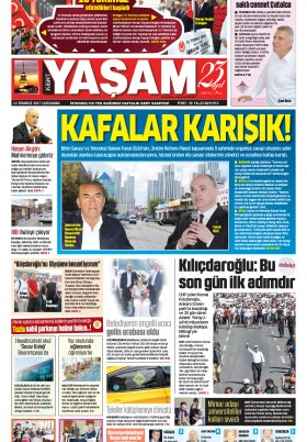 HABERDESİNİZ - 12.07.2017 Manşeti