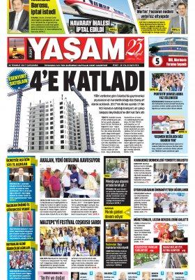 HABERDESİNİZ - 26.07.2017 Manşeti