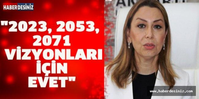 """""""2023, 2053, 2071 vizyonları için evet"""""""