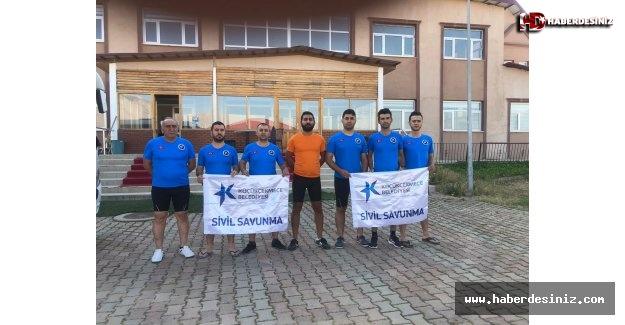 Küçükçekmece Sivil Savunma Ekipleri Tunceli'ye Gitti