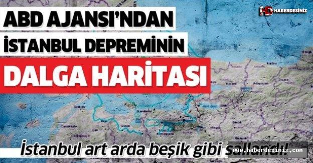 ABD deprem ajansı İstanbul depreminin dalga haritasını yayınladı!.