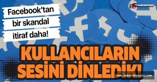 """Facebook'tan skandal itiraf! """"Kullanıcıların seslerini topladık!""""."""