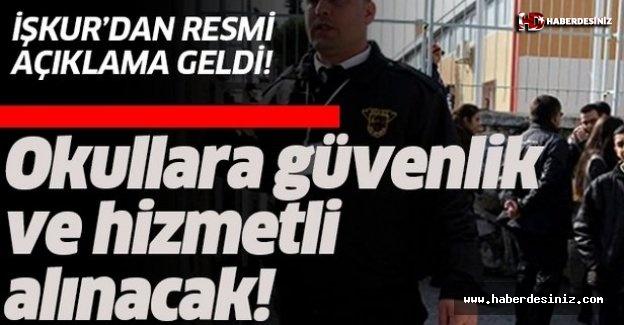 İŞKUR TYP okullara güvenlik ve hizmetli alımı yapıyor!.