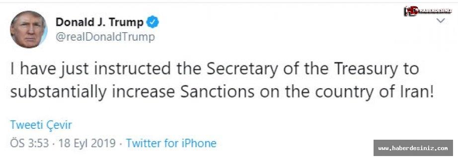 Trump'tan İran'a yaptırım talimatı