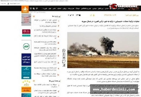 İran medyasından Türkiye aleyhine kara propaganda! Barış Pınarı Harekatı için çirkin iftira.