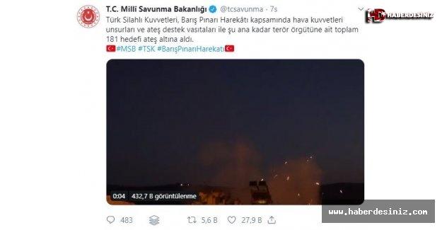 MSB kara harekatında son durumu paylaştı Komandolar Fırat'ın doğusunda ilerliyor.
