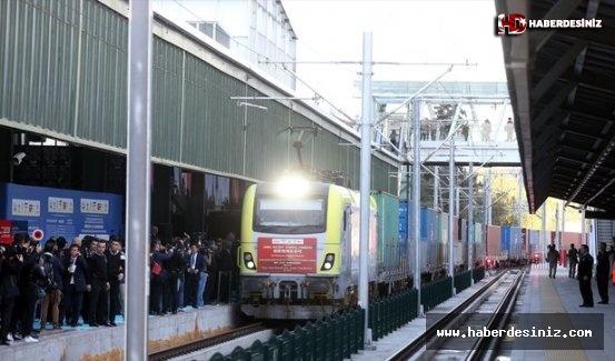 China Railway Express, Ankara Garı'ndan törenle uğurlandı.