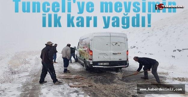 Tunceli'ye mevsimin ilk karı yağdı!