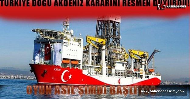 Türkiye Doğu Akdeniz kararını resmen duyurdu!.