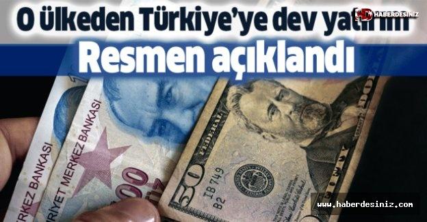 Türkiye'ye dev yatırım!  Resmen açıklandı.