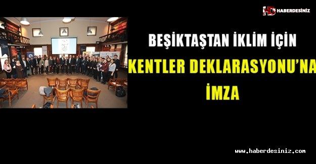 Beşiktaş'tan İklim İçin Kentler Deklarasyonu'na İmza