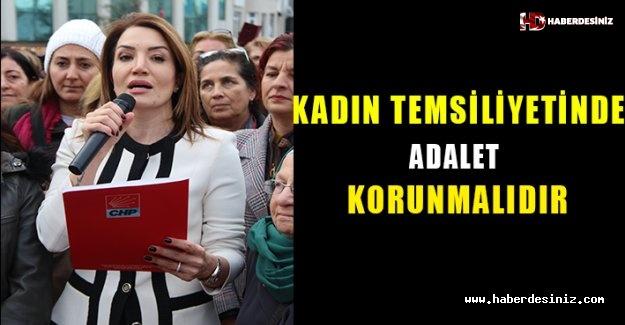 Kadın temsiliyetinde adalet korunmalıdır