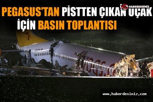 Pegasus'tan Pistten Çıkan Uçak İçin Basın Toplantısı