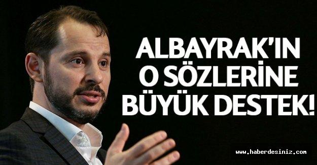 Bakan Albayrak'ın milli bağımsızlık mücadelesi sözlerine büyük destek