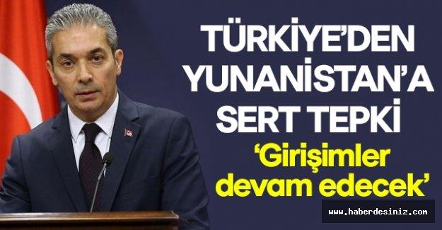 Türkiye'den Yınanistan'a sert tepki!