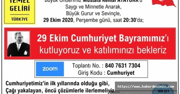 VTG, Cumhuriyet Bayramını online kutlayacak