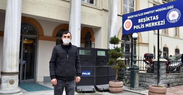 Beşiktaş belediyesi temizlik personelinden örnek davranış!