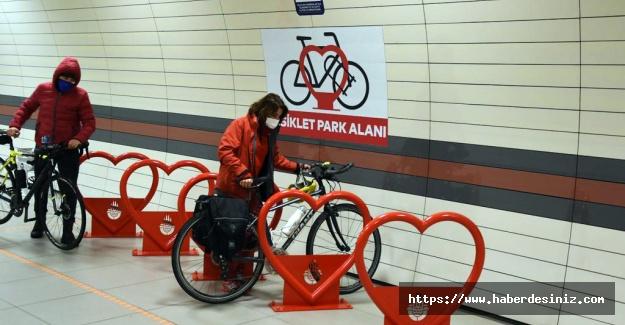 İstanbul Metrosu'na bisiklet parkları