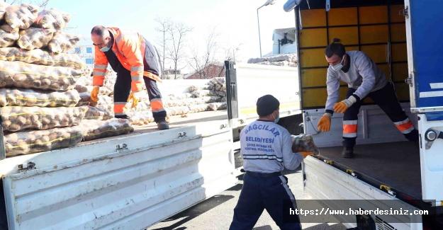 10 bin aileye 200 ton patates yardımı